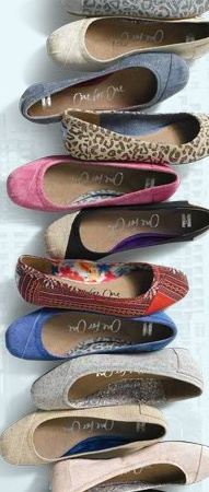 a reason to look forward to spring -  toms ballet flats!