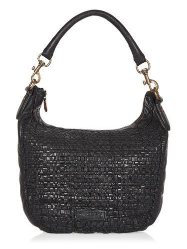 NWT Liebeskind Berlin Robin Woven Leather Shoulder Bag in Black