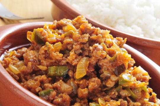 This delicious Spicy Turkey Picadillo recipe makes six recipes - enough for your lunches all week!