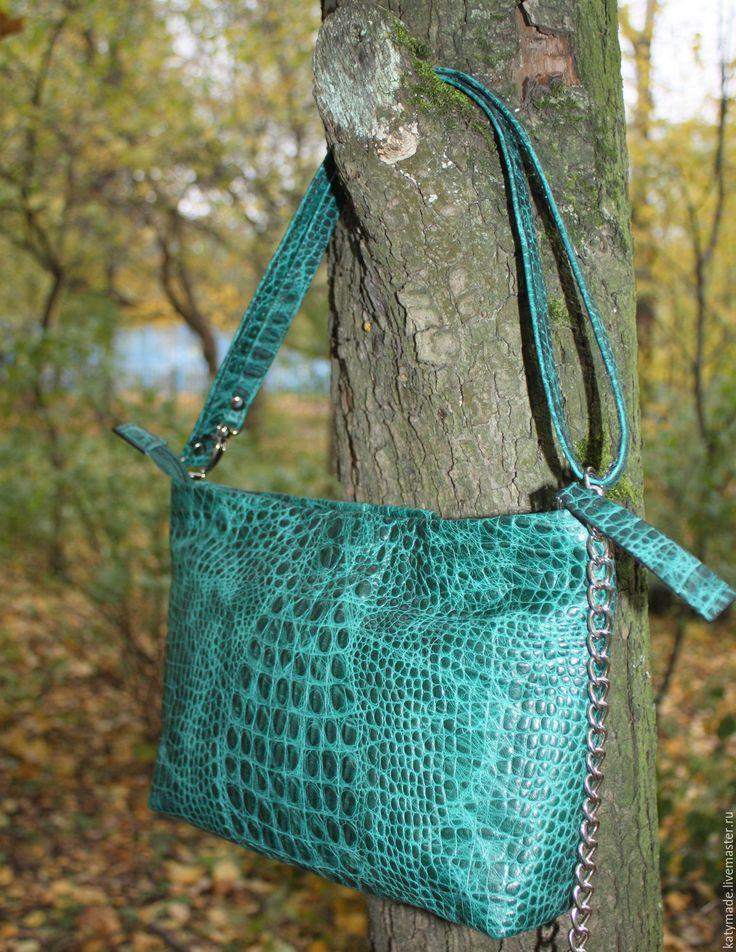 Купить Сумочка кросс-боди, натуральная кожа - кросс-боди, сумка на тонком ремешке