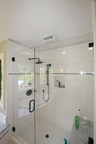 Master Shower traditional bathroom