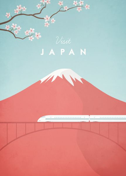 Vintage Japan Travel Poster Art Print by Travel Poster Co