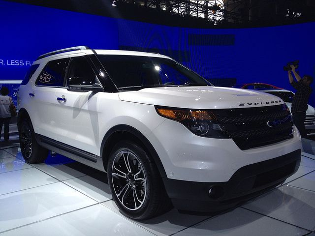 2013 Ford Explorer Sport @ the 2012 New York International Auto Show | Engine horse power and top speed: 365 HP / 122 MPH | 0-60 mph - 5.9 sec. | Fuel economy - 16 MPG city / 22 MPG highway | $43.000