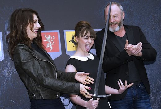 Maisie Williams has found Vine, and we haven't been the same since. Here are five of her best 6-second videos. See the Vines here: http://blog.zap2it.com/pop2it/2013/06/game-of-thrones-maisie-williams-5-vines-to-prove-shes-queen-of-the-internet.html
