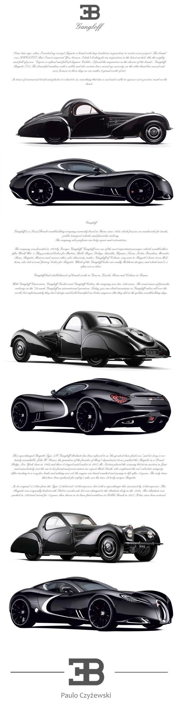 BUGATTI GANGLOFF CONCEPT CAR , INVISIUM by Paweł Czyżewski, via Behance - we human like to dream <3