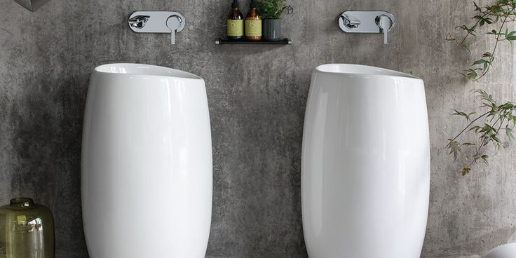 Make a statement in your bathroom with Sottini's stylish, totem-like Ombrone basins