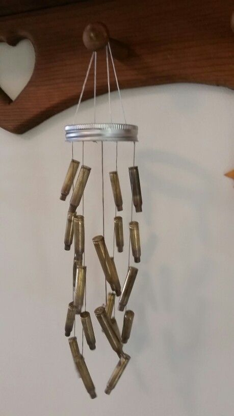 Bullet casing wind chime