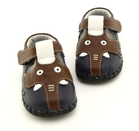 "Freycoo | Elephant | Soft Sole Baby Shoes Absolutely adorable ""Elephant"" baby shoes in navy leather."