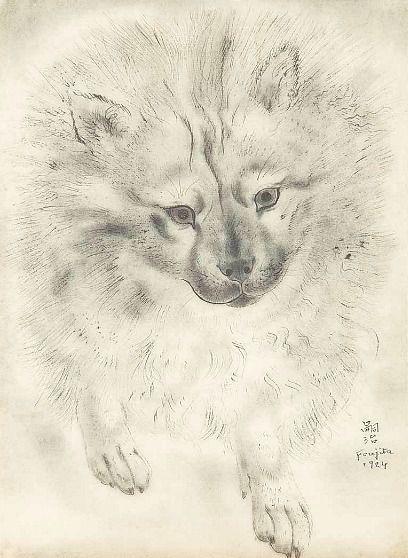 Leonard Tsuguharu Foujita Dog 1924