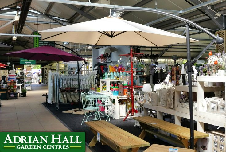 Cantilever parasols come in a variety of colours.