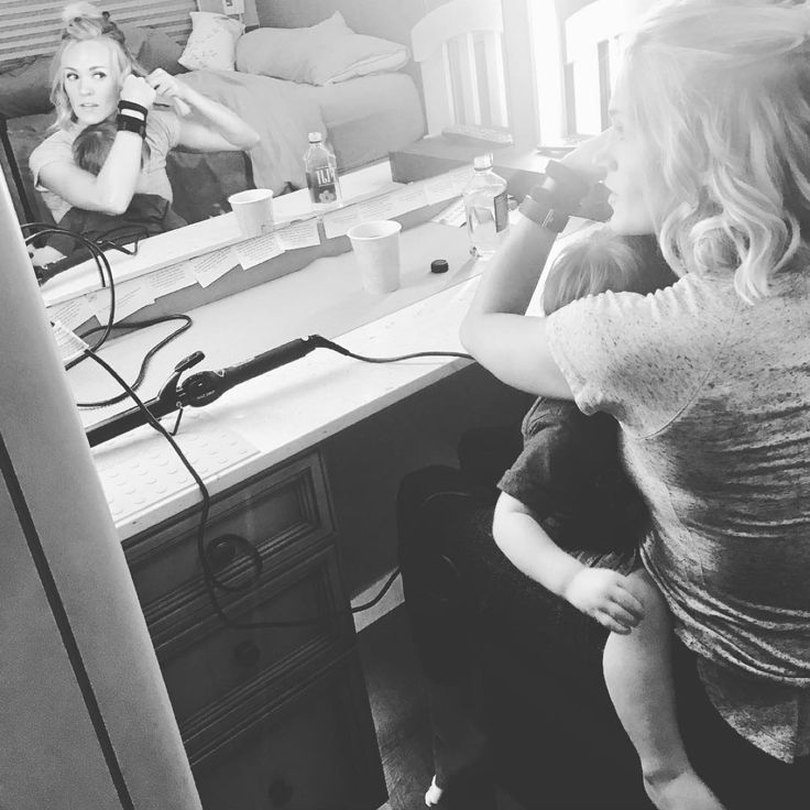 Multitasking Mom! Carrie Underwood Is 'More Than Happy' to Cuddle with Her Son as She Does Her Hair and Makeup #multitasking #carrie…