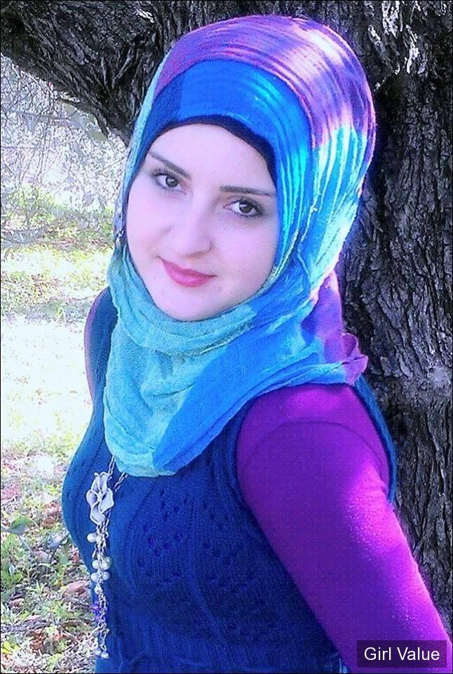 Token1522 Arab Girl In Blue Scarf Hijab Niqab