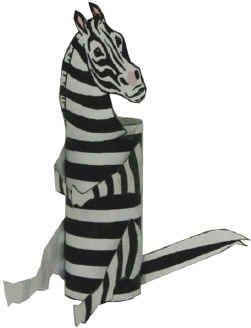 Zebra Toilet Paper Roll Craft