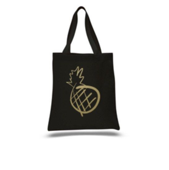 Available for pre-order now | will ship by December 10th  This gold pineapple tote is the perfect gift to add a bit of glam to the holiday season!