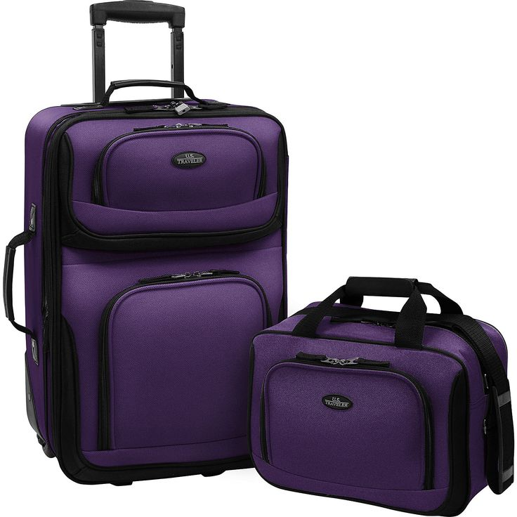 Expandable Carry-On Luggage Set (2pc)