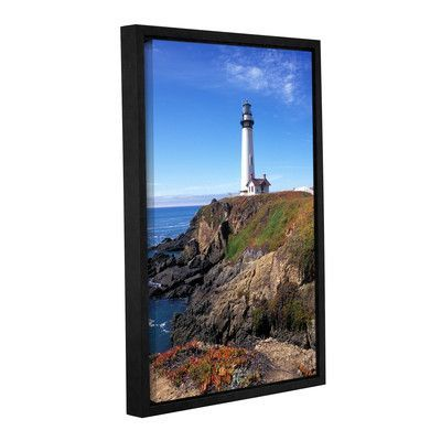"""ArtWall Pigeon Point Lighthouse 2 by Kathy Yates Framed Photographic Print on Wrapped Canvas Size: 24"""" H x 36"""" W"""