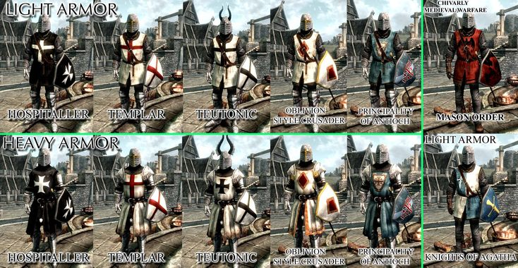 Crusaders Knights Templar Hospitaller Teutonic Chivalry Medieval Warfare Agatha and Mason Armors German Translate at Skyrim Nexus - mods and community