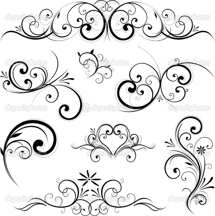 Fancy Scroll Designs | Fancy Scroll Ornament Royalty Free Cliparts Vectors And Stock Tattoo
