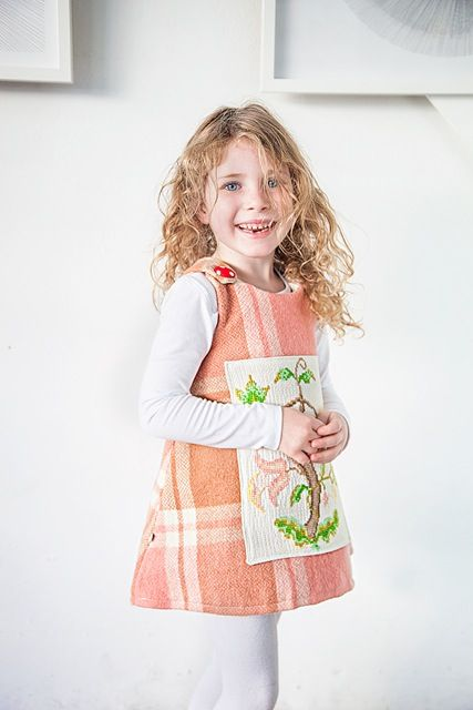 Deborah Sax of Piccalilli takes vintage wool blankets, haberdashery and accessories, and turns them into impeccably tailored and beautifully finished children's clothing. Deborah combines these vintage finds with contemporary fabric to make beautiful and robust modern day heirloom garments.
