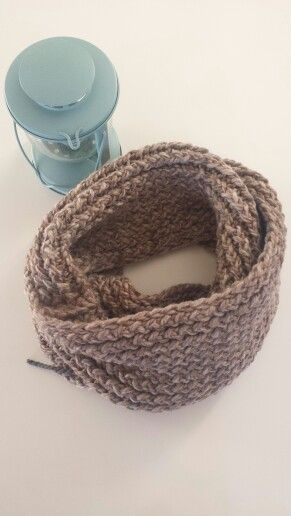 Infinity scarf in SANDSTONE. Check out www.facebook.com/oopsie.daisy.scarves.cards