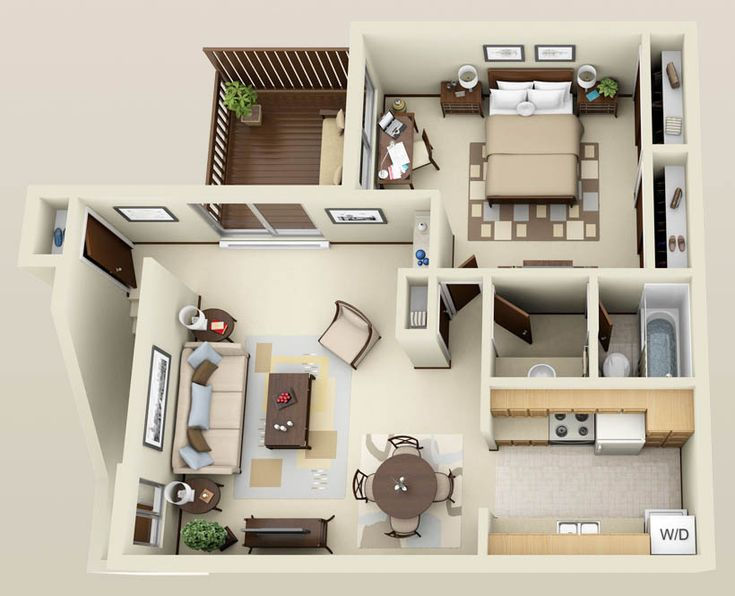 Best Apartment Floor Plans Ideas On Pinterest Sims - One 1 bedroom floor plans and houses