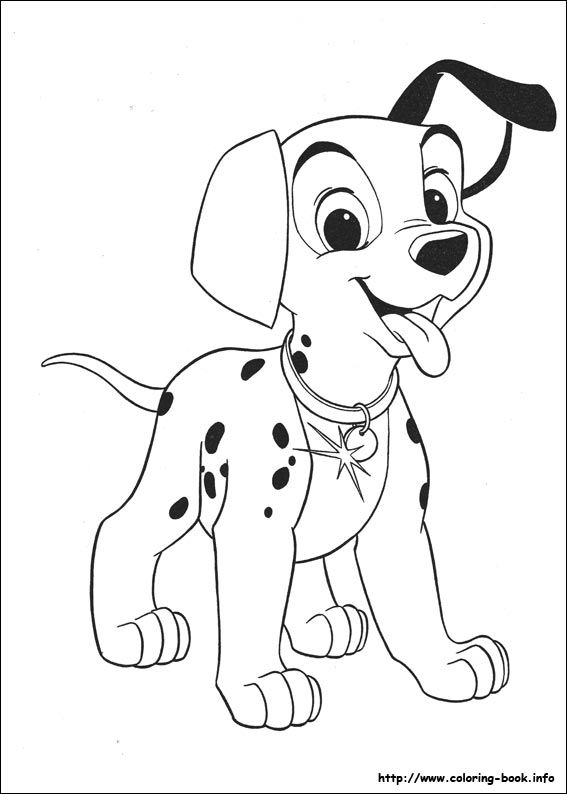 101 dalmatians dalmatians coloring pages 2