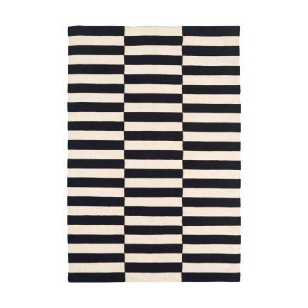 Black & White Buche Wool Flatweave Carpet