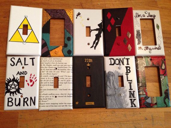 Geek/Fandom Light Switch Plates by AbolishArtifacts on Etsy