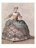 """Indian Woman Costume for the Opera Ballet """"Les Indes Galantes"""" by Jean-Philippe Rameau circa 1735"""