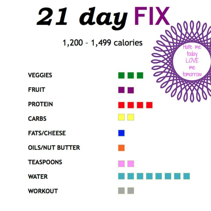 #21df Tally Sheet to track containers throughout the day. 1200-1499 calorie category. Laminate it and put it on the fridge