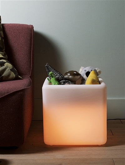 Cube de rangement lumineux