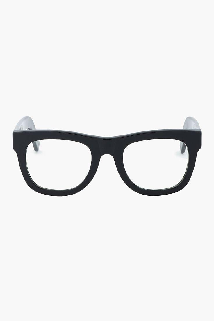 SUPER Black thick-framed Ciccio glasses