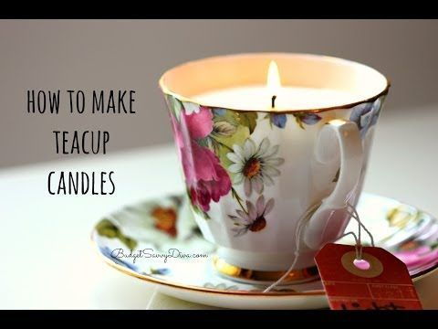 How to Make Candles in Teacups - DIY Joy