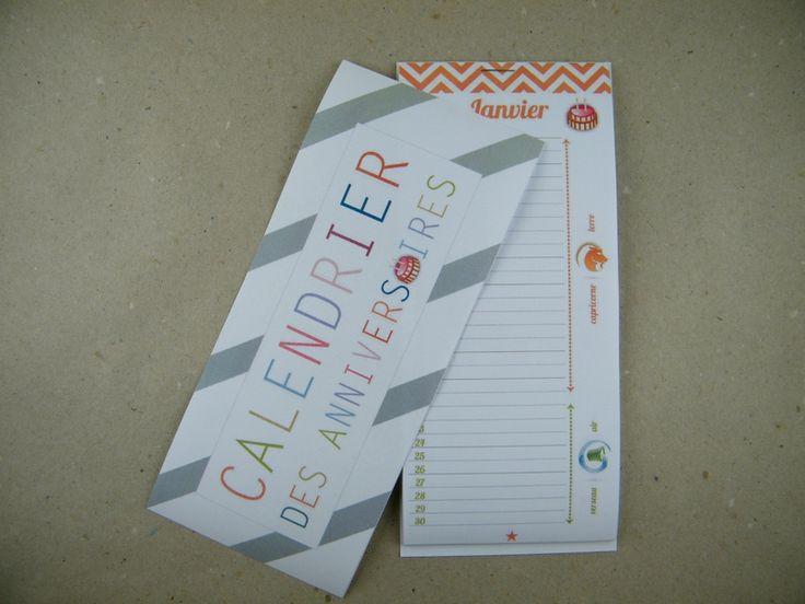 un calendrier à imprimer