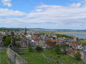 St Andrews from Regulus tower