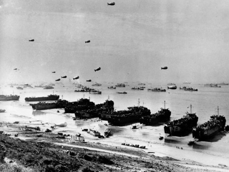 WWII Normandy Invasion Omaha Photographic Print