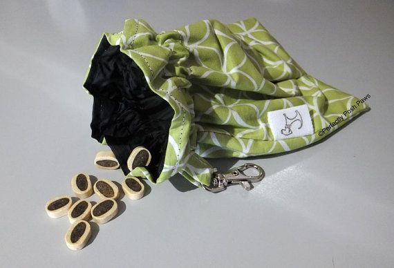 Dog Treat bag while out walking funky by PerfectlyPoshPaws on Etsy
