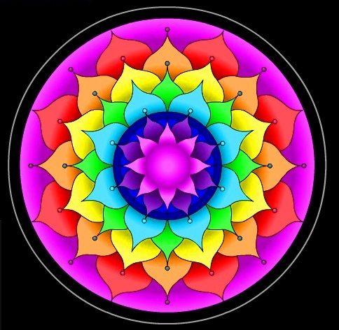 Mandala de color en el sitio web de la mandala Visiones.