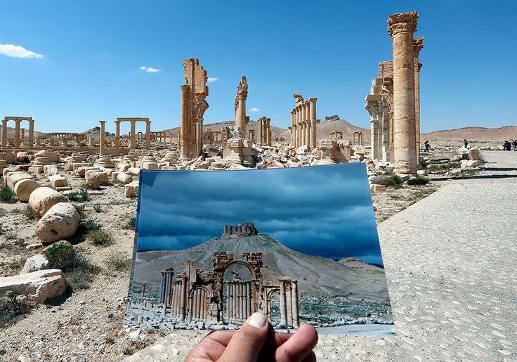 Les vestiges de Palmyre avant et après le passage de lEI  2Tout2Rien