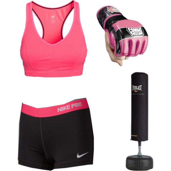 Kickboxing kick boxing fight fighting fitness love mma mixed martial arts sports bra shorts black pink gloves punching bag kicking punch I love kickboxing fighter