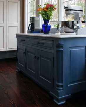 Country Blue Kitchen Cabinets | Traditional Kitchen design by New York Kitchen And Bath Susan Serra ...