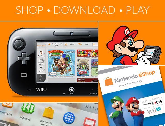 Nintendo's eShop games site.