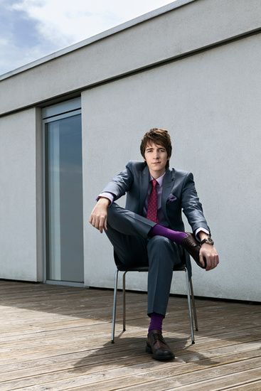 Oliver Phelps and his AWESOME purple socks.