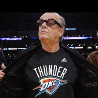 Liking Jack in his Thunder gear! #OKC