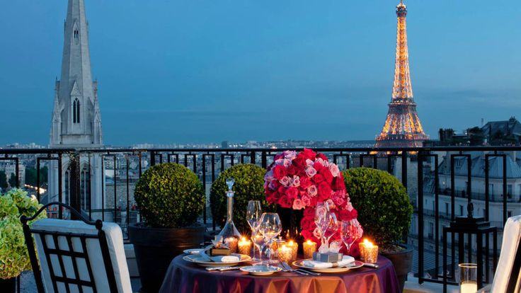 Paris, FranceInstead of dealing with the throngs of tourists (ever the mood killer) at the Eiffel Tower, head to the Four Seasons Hotel George V, where you have your pick of options. In particular, the chandeliers, grand piano, and 19th-century paintings in La Galerie lounge create an ideal ambience. Of course, you can have the best of both worlds by booking the hotel's penthouse suite, guaranteeing a stress-free view of the Eiffel Tower while enjoying an intimate meal.