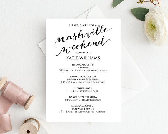 Nashville Birthday, Birthday Weekend Itinerary, Wedding Weekend