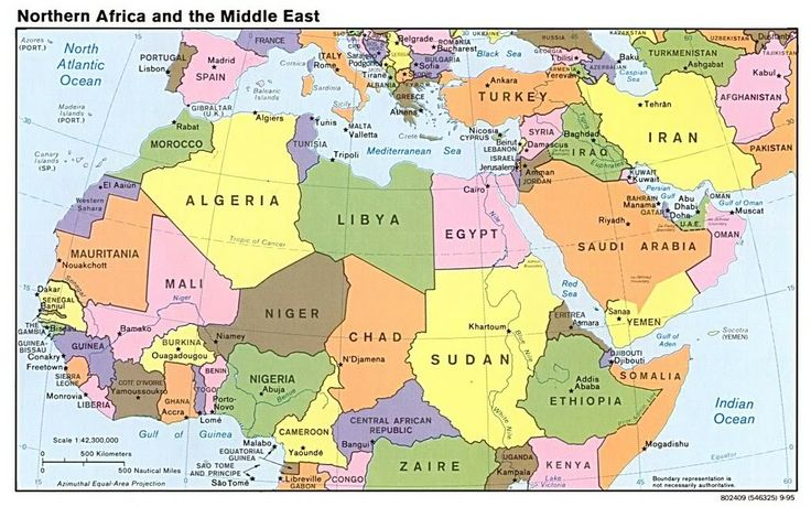 strategic map of the middle east and north africa 2010