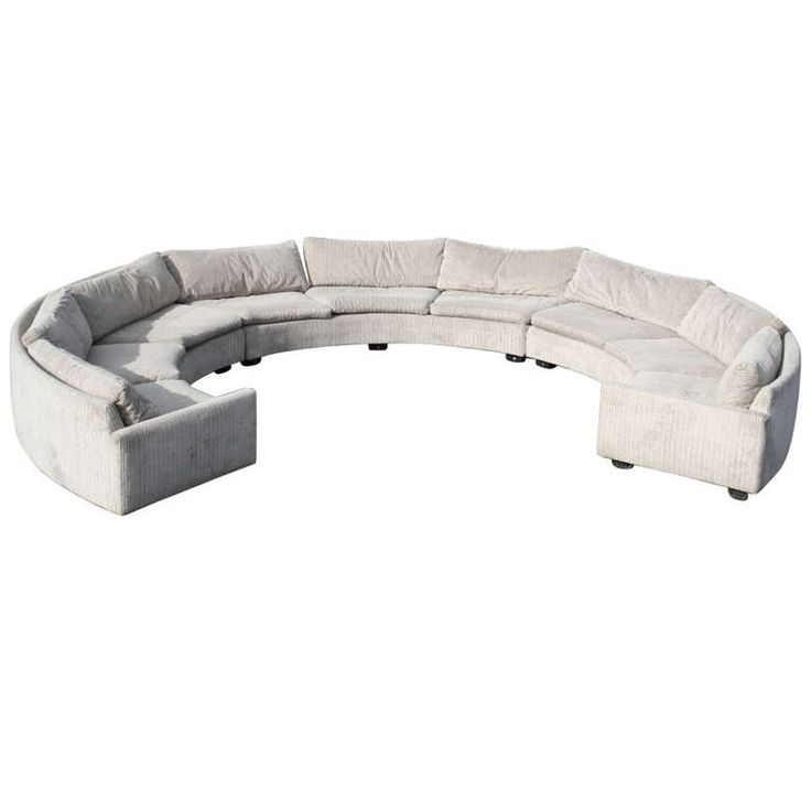 Slipcovers For Sofas A Semicircle Three Piece Sectional Sofa by Milo Baughman