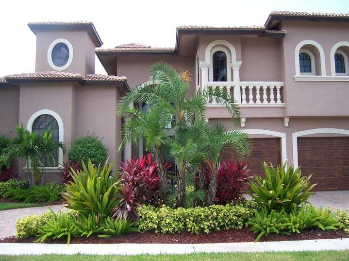 Designing exteriors home ideas front yard garden landscaping decoration with trees and plants for planning design front yard ideas tropical landscaping pictures