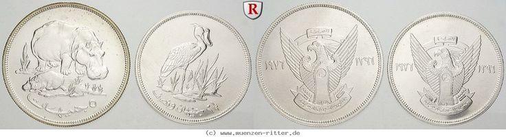 RITTER Afrika, 5 + 2,5 Pounds, Flusspferd + Schuhschnabel, PP #coins